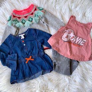 Cat & Jack Bowie Infant Sweater Jeans Set 12-18 M